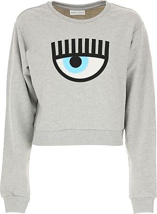 Sweatshirt for Women On Sale, White, Cotton, 2017, 10 6 8 Chiara Ferragni