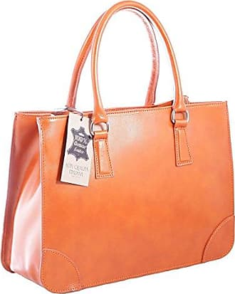 CTM Woman Handbag, Style Satchel, 12x7x4, Genuine leather 100% Made in Italy Chicca Tutto Moda