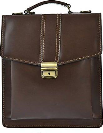 CTM Business-Tasche, Aktentasche des Mannes mit Schultergurt, echtes Leder Made in Italy D7012 - 27x32x10 Cm Chicca Tutto Moda