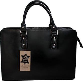 CTM Damen Tasche Handtaschen Aktentasche von Model und der Schnüffler, 36x27x11cm, 100% echtes Leder Made in Italy Chicca Tutto Moda