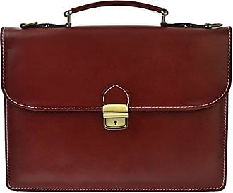 CTM Unisex Business-Tasche, Aktentasche aus Echtem Leder Hergestellt in Italien D7004-38x27x7 cm Chicca Tutto Moda