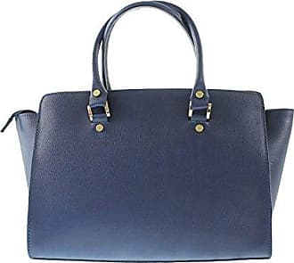 CTM Womans elegant handbag in genuine italian leather 39x28x13 Cm Chicca Tutto Moda