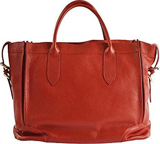 CTM Womans elegant handbag in soft genuine italian leather made in Italy 40x30x15 Cm Chicca Tutto Moda