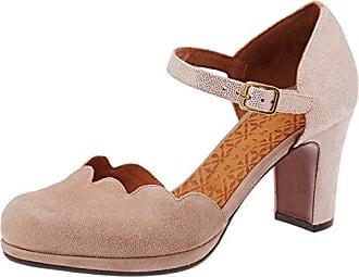 Chie Mihara c-zuleika31, Zapatos con Tacon y Tira Vertical para Mujer, Multicolor (Savila Oliva-Ante Russo Savila Oliva-Ante Russo), 38 EU