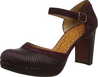 Caprice 22314, Zapatos de Tacón para Mujer, Gris (Grey Patent 240), 36 EU
