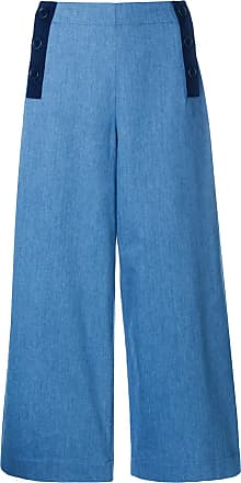Aztec cropped trousers - Blue Chinti and Parker