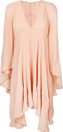 curved hem ruffled dress - Nude & Neutrals Chloé