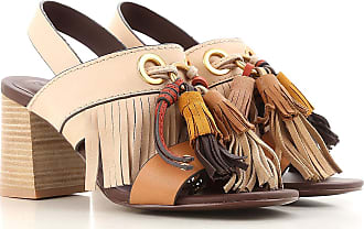 Sandals Heeled Womens On Sale, See By Chloe, brown leather, Leather, 2017, 4.5 5.5 7.5 Chloé
