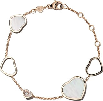 Chopard 18kt rose gold Happy Hearts rosé stone and diamond pendant necklace - Unavailable