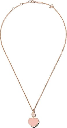 Chopard 18kt rose gold Happy Hearts turquoise stone and diamond pendant necklace - Unavailable