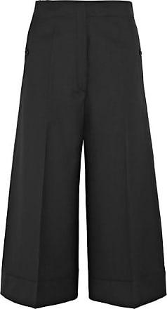 Pantalon Large Raccourci En Gabardine De Laine - Bleu nuitChristophe Lemaire