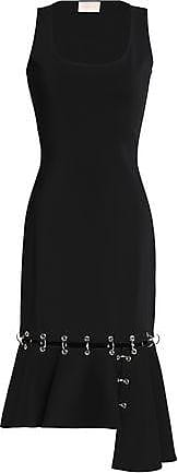 Christopher Kane Woman Asymmetric Ring-embellished Stretch-crepe Dress Black Size 8 Christopher Kane