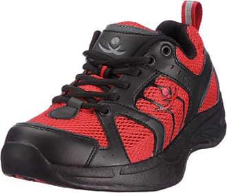 AuBioRiG Balance Step Promo 9100120 - Zapatillas de deporte para andar de tela para mujer, color rojo, talla 36.5 CHUNG SHI