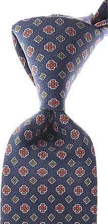 Ties On Sale, Navy Blue Melange, Virgin wool, 2017, one size Churchs