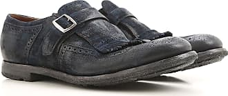 Monk Strap Shoes for Men On Sale, Midnight Blue, Suede leather, 2017, 10 7.5 8 8.5 9 Churchs