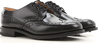 Lace Up Shoes for Men Oxfords, Derbies and Brogues On Sale, Black, Patent Leather, 2017, 7 Churchs