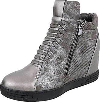 Damen Freizeitschuhe/Wedge Sneakers/Damenschuhe/Versteckter Keilabsatz/Freizeitschuhe/Grau, EU 38