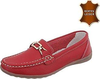 Damen Loafers Schuhe Mokassins Plateau Leder Slipper Halbschuhe Casual Sneaker Weiß 37