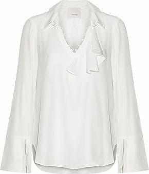 Cinq À Sept Woman Martine Ruffled Cotton-blend Lace Blouse Black Size XXS Cinq à Sept