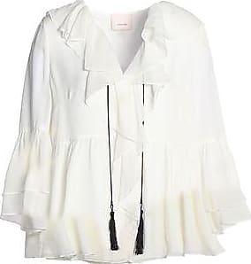 Cinq À Sept Woman Ruffled Silk Crepe De Chine Blouse Off-white Size XS Cinq à Sept