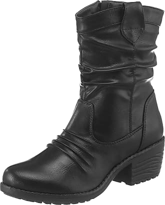 CITY WALK Stiefelette, mit modischen Ösen, schwarz, EURO-Größen, schwarz