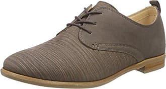 Clarks Hamble Oak, Zapatos de Cordones Brogue para Mujer, Gris (Grey Combi Lea), 42 EU