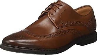 Clarks Alice Mae, Zapatos de Cordones Brogue Para Mujer, Beige (Sand Combi), 41 EU