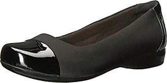 Clarks Ffion Ivy Black Leather, Schuhe, Flache Schuhe, Ballerinas, Grau, Female, 36