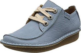 Clarks Funny Dream, Zapatos de Cordones Brogue para Mujer, Beige (Pewter Metallic), 41.5 EU