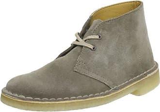 Clarks Damen Desert Boot, Mehrfarbig (White/Grey), 36 EU