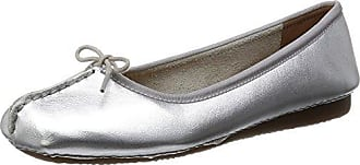Clarks Freckle Ice, Damen Geschlossene Ballerinas, Weiss (White Leather), EU 37 (UK 4)