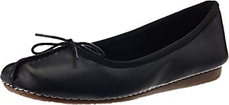 Clarks Felicia Plum, Damen Mokassin, Schwarz (Black Leather), 39 EU (5.5 Damen UK)
