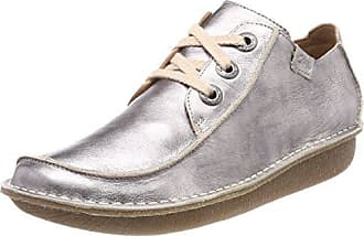 Clarks Hamble Oak, Zapatos de Cordones Brogue para Mujer, Gris (Grey Combi Lea), 35.5 EU