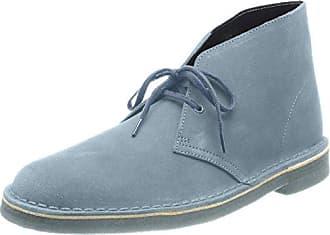 Clarks Desert Boot - Zapatos con Cordones, Mujer, Azul (Light Blue Nubuck), 35.5