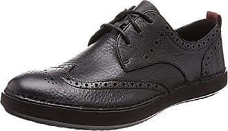 Komuter Run, Zapatos de Cordones Derby para Hombre, Negro (Blk Tumbled Lea), 46 EU Clarks