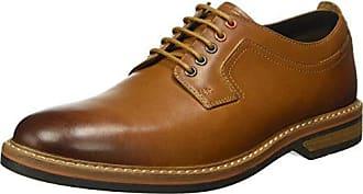 Clarks Exton Walk - Zapatos con cordones de cuero hombre, color marrón - braun (tobacco leather), talla EU 44.5 (UK 10)