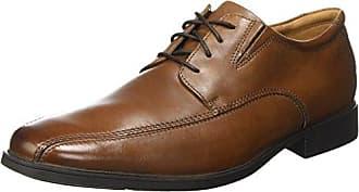 Clarks Hinton Fly - Zapato brogue de cuero hombre, color azul, talla 44.5