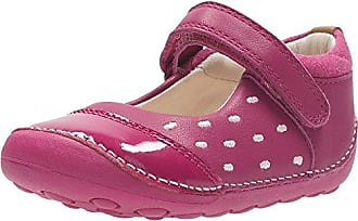 Clarks Little Lou Girls First Pumps with Spot Detailing 3 G Pink