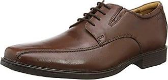 Clarks Tilden Walk, Zapatos de Cuero Para Hombre, Marrón (Brown Leather), 43