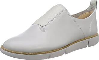 Glove Puppet - Mocasines de Piel para Mujer Gris Grau (Silver Leather) 41.5 Clarks