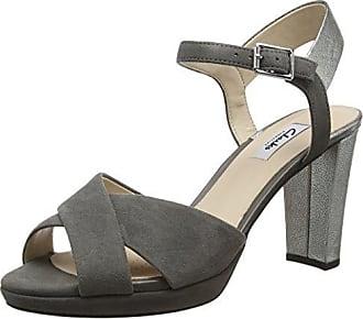 Unze Evening Slippers L18167W Sandalias para mujer, Gris (estaño), talla 38