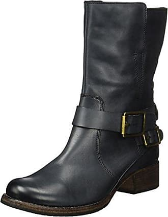 Reunite Up GTX, Botas Biker para Mujer, Negro (Black Leather), 41.5 EU Clarks