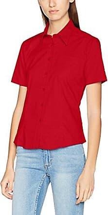 Samson Long Sleeve Shirt, Camisa de Oficina para Hombre, Red (Deep Red), X-Large Clique