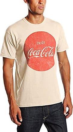 Mens Glith Stripes Short Sleeve T-Shirt Coca Cola Ware