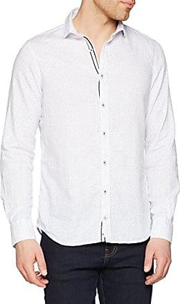 Basic Story, Camisa Casual para Hombre, Weiß (Snow 0100), Large Colours & Sons