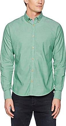 Mike, Camisa para Hombre, Turquesa (Aqua Small Stripes), S Colours & Sons