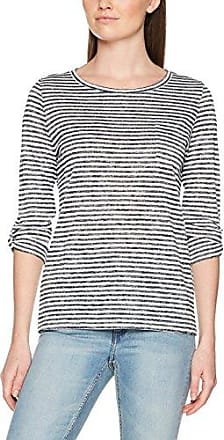 Comma Ci 88.804.33.8710, Camiseta para Mujer, Multicolor (White Stripes 01G6), 38