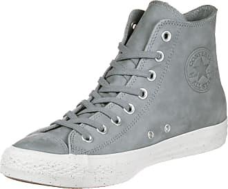 Converse All Star Hi Leather Suede - para hombre, Schwarz (Black/Black/Charcoal), 36.5