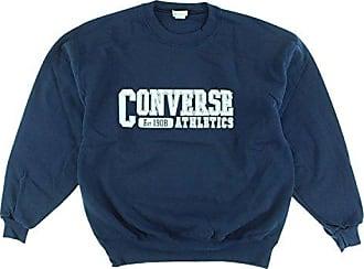 Converse Mens Athletics Vintage Crewneck Sweatshirt Navy Blue L