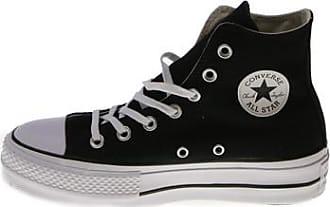 Converse Chuck Taylor Hi Tops in pelle nera Taglia 5 Bianco e Nero Mono mai indossato